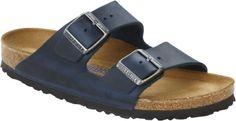 Birkenstock Arizona Insignia Blå skinn smal Myk   Birkenstock sandaler