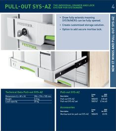 New Festool Tools 2014 - Festool Systainer drawers