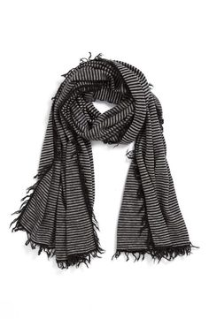 Cozy, Stripe Cashmere Wrap