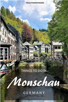 There are so many lovely things to do in for a Walk by the River Rur and admire the in the Altstadt, and hike up to the castle or the Panorama weg summit for a bird's eye view of Monschau. Plan your trip with this featuring a free map of Monschau. Things To Do, Lovely Things, Romantic Things, Romantic Quotes, Mosel Germany, Instagram Picture Quotes, Hiking Quotes, Tumblr, Travel Couple