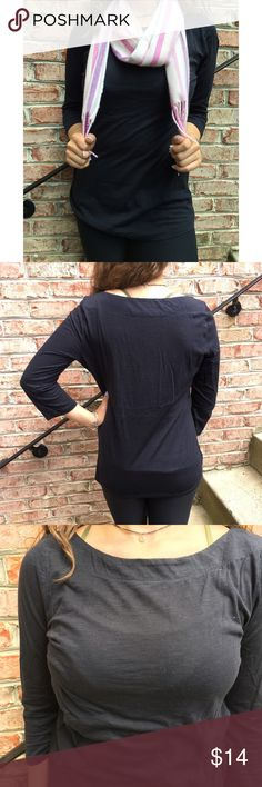 """LOFT 3/4 Sleeve Cotton Top LOFT 3/4 Sleeve Cotton Top. Worn twice. Measures from pit to pit 18"""" and length 24"""". Made of 100% cotton. LOFT Tops Tees - Long Sleeve"""