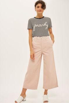 online retailer 4d787 ccd41 PETITE  Peachy  Stripe T-Shirt Rippade Skinny Jeans, Topshop