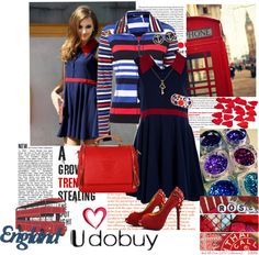 """""""English Blue"""" by sherri40 ❤ liked on Polyvore"""