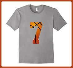 Mens Basketball Number 7 T Shirt Birthday Shirt Basketball Shirt XL Slate - Birthday shirts (*Partner-Link)