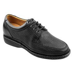 Increasing Height 2.54 Inch Black Shrinkage Grain Leather Men'S Dress Shoes Get Taller 6.5 Cm