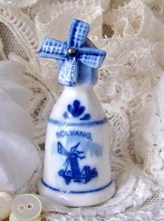 RP: Vintage Blue Delft Thimble Windmill Holland Thimble - Etsy.com