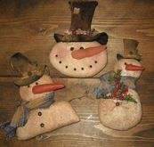 Country Snowman Ornaments E Pattern by SouthernBelleScentz on Etsy