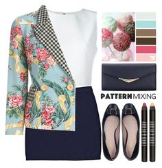 """Pattern Mix Master"" by grozdana-v ❤ liked on Polyvore featuring Alice + Olivia, Seed Design, Bally, Moschino, Lord & Berry and patternmixing"