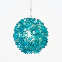 Love the turquoise hanging light for a turquoise accented kitchen. Worlds Away Venus Pendant Capiz Shell Floral Turquoise WAVENUST. Tiffany Blue, Azul Tiffany, Tiffany Lamps, Turquoise Chandelier, Turquoise Pendant, Pendant Chandelier, Flower Chandelier, Flower Pendant, Flower Lamp