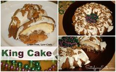 King Cake! Easy, delicious, low-carb and grain-free! Tis' the season!