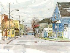 Urban Sketchers: Small town