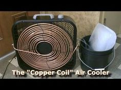 "Homemade AC - The ""Copper Coil"" Air Cooler! - (Simple ""Box Fan"" Conversion) - Easy DIY - YouTube"