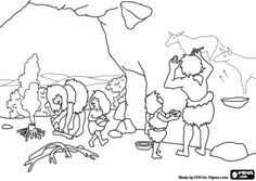 cave paintings coloring pages - photo#19