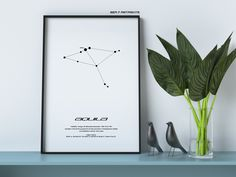 Aquila Star Constellation, Printable Art, Black and White, Instant download, Wall Poster, Astronomy, Navigation, Northern Sky, The Eagle #artprint #graphics #eagle #stars #constellation Printable Art, Printables, Star Constellations, Black And White Drawing, Art File, Poster Wall, Astronomy, Picture Frames, Monitor