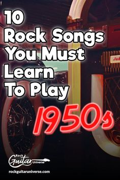 Many people consider Rock and roll as the epitome of popular music. Electric guitars, leather jackets, incendiary lyrics and a rhythm that absolutely no one… Guitar Tabs Songs, Learn Guitar Chords, Easy Guitar Songs, Learn To Play Guitar, Music Guitar, Playing Guitar, Guitar Diy, Music Chords, Guitar Chord Chart