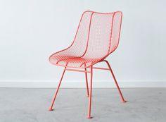 WOODARD Sculptura Side Chair - Salmon - C RESTORATION
