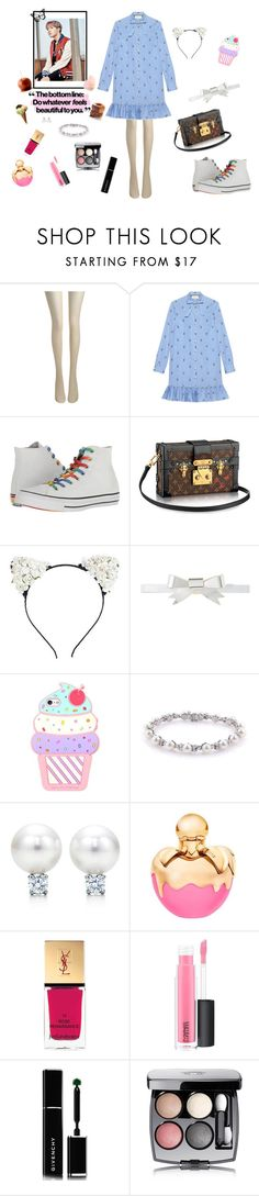 """J-Hope's girl - And he called me to the park ... (Just didn't want to know about the roller coaster, much less the Ferris wheel, hihi)"" by raven-costa on Polyvore featuring moda, Fogal, Gucci, Converse, Rodarte, Tiffany & Co., Nina Ricci, Yves Saint Laurent, MAC Cosmetics e Givenchy"