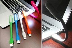 Great stocking stuffer idea! Flexible LED USB lamps. Great for illuminating keyboards in dark environments! Unique bendable design with flexible body, 360 degree rotation, suitable for all occasions. The light is small and easily portable. Can be used on desks, in cars, planes, or even as a night light at your bedside table.