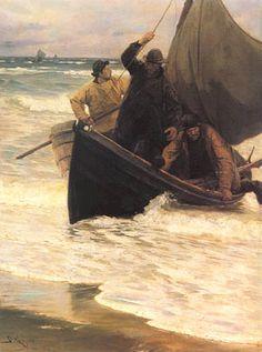 P.S. Krøyer: Hjemvendende fiskere. 1885.