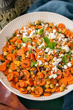 Deliciously tasty, well blended carrot salad that's brimming with the fresh Moroccan flavors. A unique yet favorite salad recipe of mine!