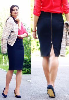 long zipper skirt