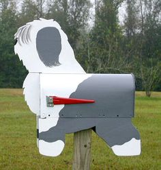 old english sheepdogs letter box