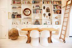 bookshelves and neutrals