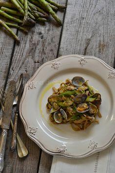 La Cucina di Stagione: Tagliatelle integrali con asparagi e vongole