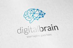 digital brain logo Templates ** Features **---- 100 Scalable Vector Files- Everything is editable- Everything is resizable- by Business Brochure, Business Card Logo, Brain Logo, Book Logo, Branding, New Gadgets, Pencil Illustration, Paint Markers, All Fonts