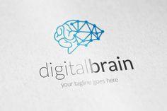 digital brain logo Templates ** Features **---- 100 Scalable Vector Files- Everything is editable- Everything is resizable- by Marketing Logo, Digital Marketing, Business Brochure, Business Card Logo, Brain Logo, Book Logo, Illustrator Cs, New Gadgets, Branding