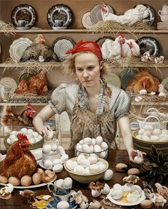 Andrea Kowch - Pecking Order