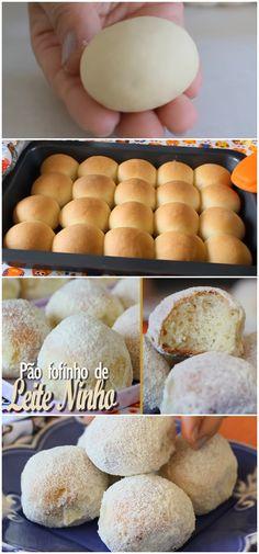 PÃO FOFINHO DE LEITE NINHO | MUITO MACIO E DELICIOSO #pão #leiteninho #leite #receita #gastronomia #culinaria #comida #delicia #receitafacil Berry Smoothie Recipe, Easy Smoothie Recipes, Easy Smoothies, Good Healthy Recipes, Snack Recipes, Homemade Frappuccino, Coconut Milk Smoothie, Grilled Fruit, Pumpkin Spice Cupcakes