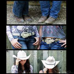 Best Friend Photoshoot Cowboy Boots Cowboy Hats Belt Buckles @Amber Carlson