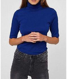XS-XXL New Blue Cotton Womens Lady Clothing Fashion Casual Apparel Tops Shirt | eBay