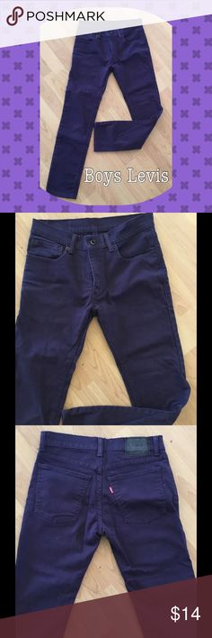 Stand out in these Levis Deep Purple Boys Jeans ...Supper Skinny like New. 28/28 Levis Jeans Slim Straight