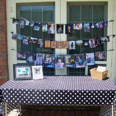Graduation party photo display