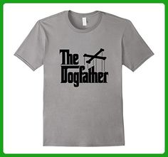 Mens The Dogfather | Dog Lover Dad Men Funny Father's Day T-shirt XL Slate - Relatives and family shirts (*Amazon Partner-Link)