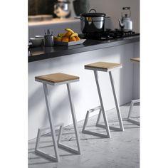 Plywood Furniture, Steel Furniture, Industrial Furniture, Furniture Design, Log Bar Stools, Wooden Bar Stools, Bar Chairs, Home Decor Kitchen, Home Decor Bedroom