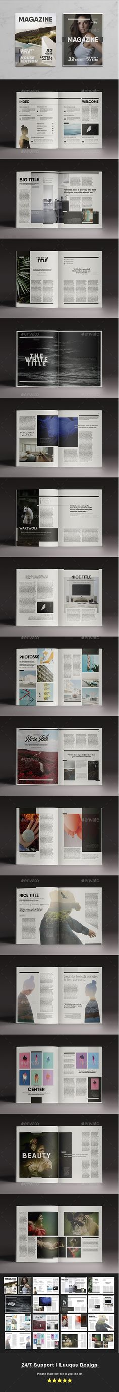 Multipurpose Magazine 7 — InDesign Template #indesign template #minimalist • Download ➝ https://graphicriver.net/item/multipurpose-magazine-7-indesign-template/16819335?ref=pxcr