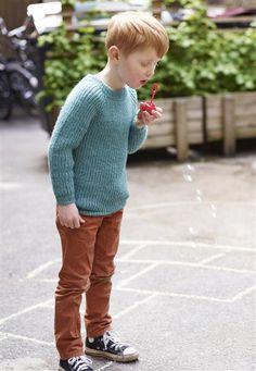 1410: Modell 9 Genser i halvpatent #alpakka #strikk #knit