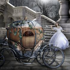 One Minute To Midnight by *Juli-SnowWhite on deviantART ~ Cinderella Fairytale Fantasies, Fairytale Art, My Fantasy World, Fantasy Art, Midnight Cinderella, A Cinderella Story, Art Themes, Color Themes, Believe In Magic