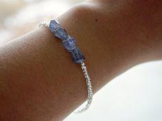 Gemstone bracelet by Generositydesigns Raw Gemstone Jewelry, Gemstone Bracelets, Raw Gemstones, Bracelet Designs, Diamond, Handmade, Etsy, Handmade Gifts, Unique Jewelry