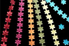 Flower cutout Ribbon 3/4 wide. Lots of colors to by RibbonMarket, $7.99