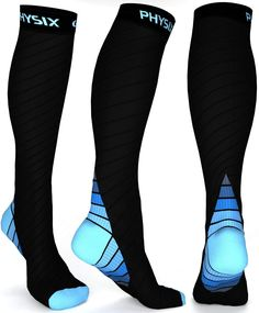 Physix Gear Compression Socks for Men & Women mmhg, Best Graduated Athletic Fit for Running Nurses Shin Splints Flight Travel & Maternity Pregnancy -Boost Stamina Circulation & Recovery GRY LXL Compression Hose, Sports Compression Socks, Compression Stockings, Compression Clothing, Parfait, Outdoor Workout, Ski Socks, Socks Men, Shin Splints