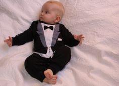 tuxedo onesie PERSONALIZED quality Baby gift with von Schnuffelinis, €19.95