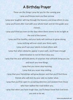 A Birthday Prayer from Everyday Truth ~ She writes her children a birthday prayer each year, what a great idea!! Happy Birthday Prayer, Birthday Wishes For Daughter, Birthday Blessings, Birthday Wishes Quotes, Birthday Greetings, Birthday Cards, My Birthday Wish, Happy 18th Birthday Quotes, Happy Birthday Baby Girl