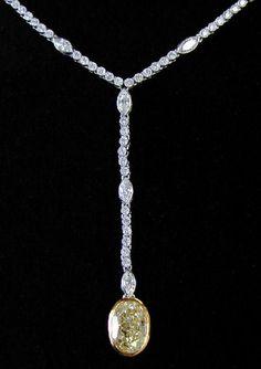 Light Yellow Diamond Necklace