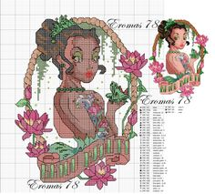 Tiana Pin Up cross stitch pattern - this series is amazing!!