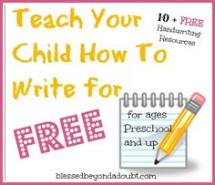 A Whole List full of FREE Handwriting Worksheets.  Perfect for Homeschool Handwriting, too!