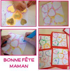 Fête des mères. Cadeau Parents, Preschool, Pots, Frame, French Class, Foyer, Classroom Ideas, Education, Decoration